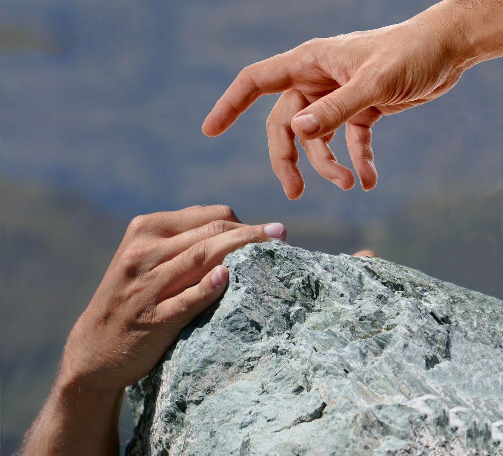 Jesus heilt einen blinden Mann Image